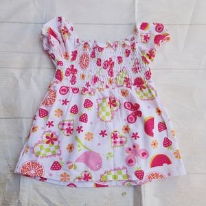Authentic J. Khaki girls Butterfly top size 3T